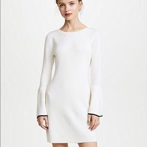 Club Monaco cream sweater dress